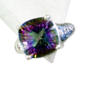 Buy Riyo Mystic Quartz Silver Handmade Handmade Silver Ring Sz 8 Srmqu8-54015 online