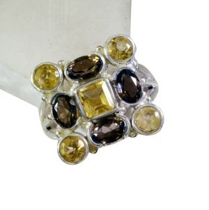 Buy Riyo Gemstone Silver Jewellery Oxidized Silver Ring Sz 6 Srmul6-52007 online