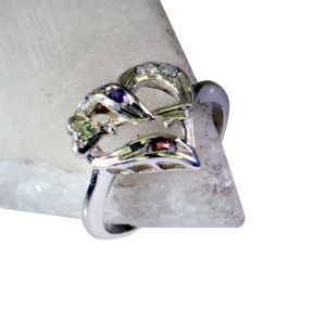 Buy Riyo Gemstone Silver Jewellery Sale Mourning Ring Sz 6.5 Srmul6.5-52062 online