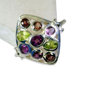 Buy Riyo Gemstone Silver Jewellery Design Silver Dome Ring Sz 7 Srmul7-52024 online