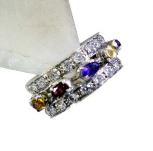 Buy Riyo Gemstone Silver Jaipur Silver Ring Band Sz 9 Srmul9-52046 online