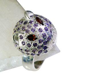 Buy Riyo Gemstone Silver Jewellery India Silver Ring Bands Sz 9 Srmul9-52047 online