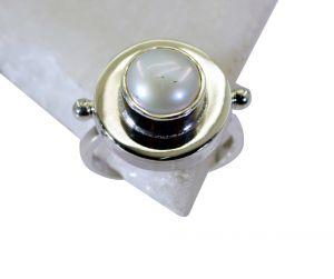 Buy Riyo Pearl Silver Jewellery Stand Silver Ring Women Sz 8 Srpea8-56008 online