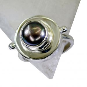 Buy Riyo Pearl Silver Jewellery Stores Silver Sister Ring Sz 8 Srpea8-56009 online