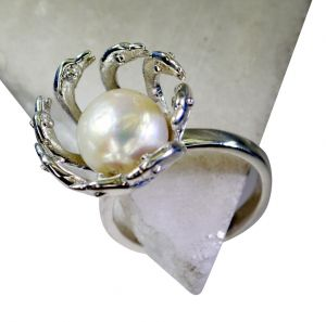 Buy Riyo Pearl Silver Jewellery Tags Silver Star Ring Sz 9 Srpea9-56013 online