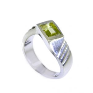Buy Riyo Peridot Silver Jewellery Wholesalers Simple Silver Ring Sz 5.5 Srper5.5-58002 online