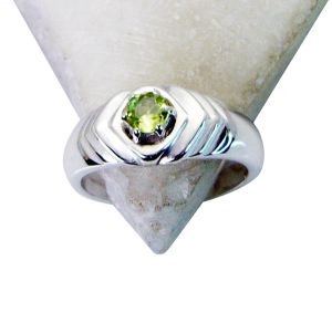 Buy Riyo Peridot Silver Jewelry Design Ideas Engagement Ring Sz 5.5 ...