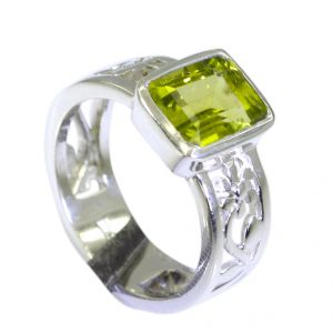 Buy Riyo Peridot Silver Jewelry Artists Vintage Silver Ring Sz 6.5 Srper6.5-58008 online