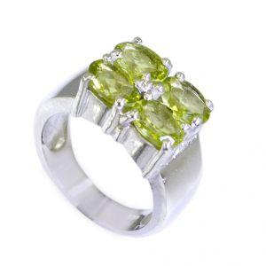 Buy Riyo Peridot Silver Jewelry Castings Womens Silver Ring Sz 7 Srper7-58013 online