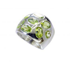 Buy Riyo Green Peridot 925 Solid Sterling Silver Wardrobe Friendly Ring Srper75-58055 online