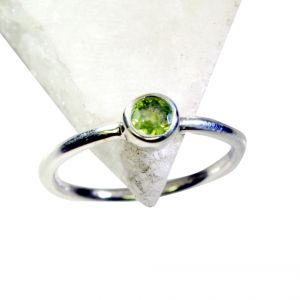 Buy Riyo Peridot Silver Jewelry India Bridal Rings Sz 8 Srper8-58038 online