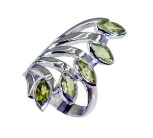 Buy Riyo Green Peridot 925 Solid Sterling Silver Wear Anywhere Ring Srper90-58053 online