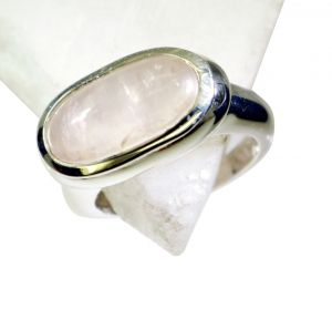 Buy Riyo Rose Quartz Silver Jewelry Women Beautiful Ring Sz 7 Srroq7-68001 online
