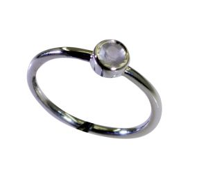 Buy Riyo Rose Quartz Silver Personalised Jewellery Bridal Rings Sz 7 Srroq7-68026 online