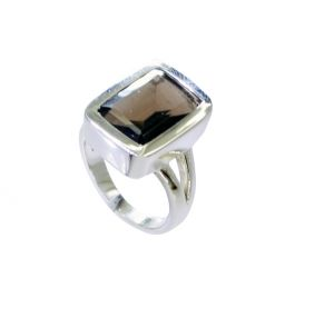 Buy Riyo Smoky Quartz Solid Silver Jewelry Engraved Silver Ring Sz 7 Srsqu7-76034 online