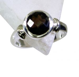 Buy Riyo Smoky Quartz Silver Wedding Jewelry Buy Silver Ring Sz 8 Srsqu8-76017 online