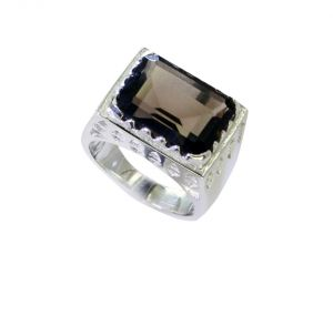 Buy Riyo Smoky Quartz Statement Silver Long Silver Ring Sz 8.5 Srsqu8.5-76039 online