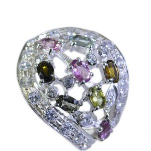 Buy Riyo Tourmaline Twisted Silver Jewelry Silver Dome Ring Sz 5 Srtou5-84002 online