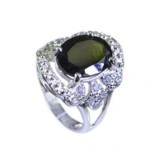Buy Riyo Tourmaline Vintage Silver Jewelry Silver Mum Ring Sz 5.5 Srtou5.5-84013 online