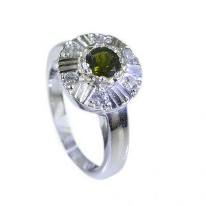 Buy Riyo Tourmaline Western Silver Jewelry Silver Promise Ring Sz 5.5 Srtou5.5-84014 online