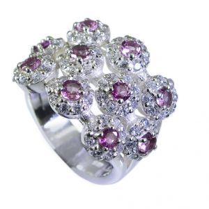 Buy Riyo Tourmaline 925 Silver Jewelry Wide Silver Band Ring Sz 6.5 Srtou6.5-84051 online