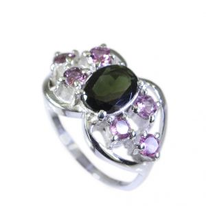 Buy Riyo Tourmaline Affordable Silver Jewellery Fashion Ring Sz 6.5 Srtou6.5-84054 online