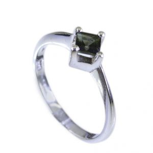 Buy Riyo Tourmaline Art Deco Silver Jewellery Engagement Ring Sz 6.5 Srtou6.5-84059 online
