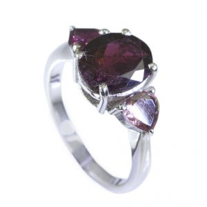 Buy Riyo Tourmaline Beautiful Silver Jewelry Finger Armor Ring Sz 7 Srtou7-84067 online