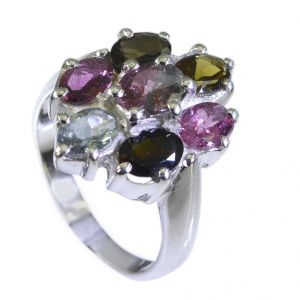 Buy Riyo Tourmaline Costume Silver Jewelry Posie Ring Sz 7 Srtou7-84108 online