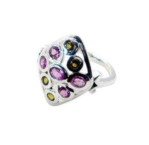 Buy Riyo Tourmaline Fashion Silver Jewellery Cheap Silver Ring Sz 7 Srtou7-84136 online