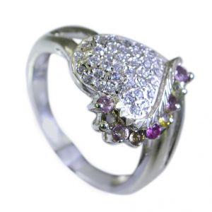 Buy Riyo Tourmaline Essentials Silver Jewellery Mourning Ring Sz 7.5 Srtou7.5-84125 online