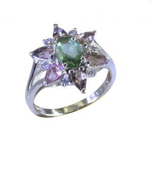 Buy Riyo Tourmaline 925 Solid Sterling Silver Coordinating Ring Srtou75-84139 online