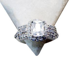 Buy Riyo White Cz High Quality Silver Jewelry Silver Ring Sz 6 Srwhcz6-110001 online