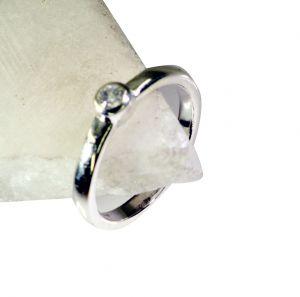 Buy Riyo White Cz Homemade Silver Jewelry Silver Ring Band Sz 6 Srwhcz6-110004 online
