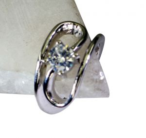 Buy Riyo White Cz Jaipur Silver Jewelry Silver Ring Settings Sz 8 Srwhcz8-110019 online