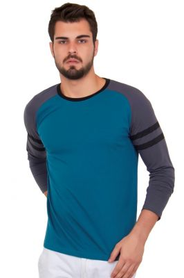 Buy Cult Fiction Solid Blue Color Cotton Tshirt online