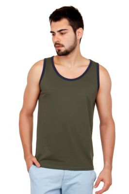Buy Cult Fiction Solid Dark Green Color Cotton Tshirt. online
