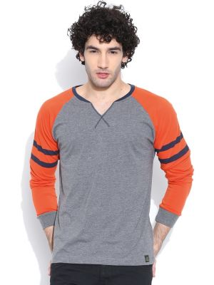 Buy Raglan/contrast Sleeve T- Shirt By Cult Fiction online