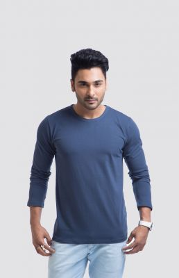 Buy Cult Fiction Cotton Blue Solid Men