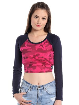 Buy Cult Fiction Comfort Fit 100% Cotton Fabric D-pink Round Neck T-shirt For Women-cfg03dpn2028 online