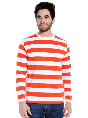 Buy Cult Fiction Round Neck Multicolor Full Sleeve Cotton T-shirt For Men online