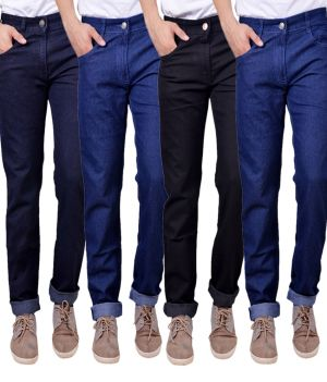 Buy Masterly Weft Trendy Multicolor Pack Of 4 Mens Jeans (product Code - D-jen-1-2-3-3-1) online
