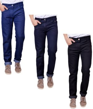 Buy Masterly Weft Trendy Pack Of 3 Mens Cotton Jeans - (code -d-jen-1-2-3-c-p) online
