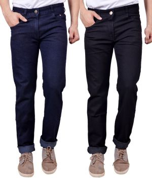 Buy Masterly Weft Awesome Pack Of 2 Mens Cotton Jeans - (code - D-jen-2-1-a) online
