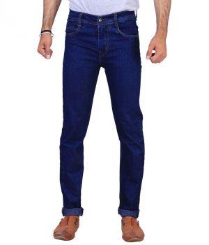 Buy Masterly Weft Trendy Dark Blue Jeans online