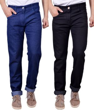 Buy Masterly Weft Awesome  (Pack Of 2) Mens Cotton Jeans online
