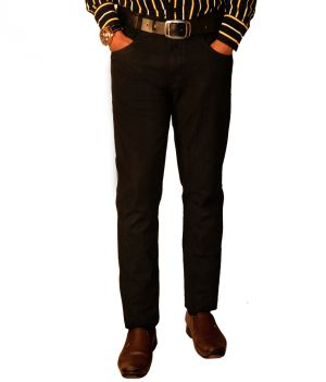 Buy Masterly Weft Mens Cotton Regular Non-stretch Black Jeans - (product Code - D-jen1-1) online