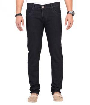 Buy Masterly Weft Black Cotton Blend Mens Jeans D-jenb-1 online