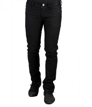 Buy Masterly Weft Black Cotton Blend Jeans For Men D-jend-1 online