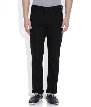 Buy Masterly Weft Black Cotton Blend Men D-jenj-1 online